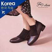 靴.彈性絨面拼接踝靴-FM時尚美鞋-韓國精選.Winter