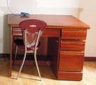二手原木書桌加椅子(需自取)