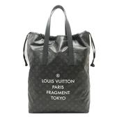LOUIS VUITTON LV 路易威登 黑灰原花大型手提購物包 Cabas Light M43417【BRAND OFF】