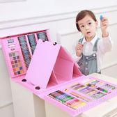 帶畫架兒童繪畫套裝水彩筆蠟筆油畫棒【一周年店慶限時85折】