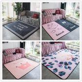 北歐大版客廳臥室床邊地毯兒童爬行地墊現代客廳沙發茶幾墊子【韓衣舍】