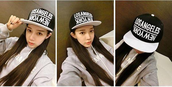 [協貿國際]韓版潮戶外帽街舞街頭女帽倒NEWYORK黑色白鴨舌