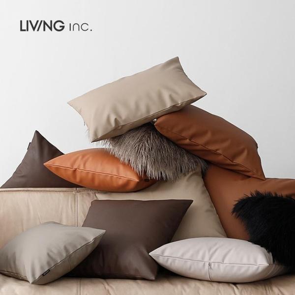 輕奢抱枕套腰枕客廳沙發靠墊仿靠枕汽車pu 樂活生活館