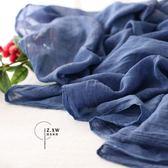 2019韓國春秋季超大棉麻圍巾女文藝純色彩棉毛須森系保暖披肩兩用