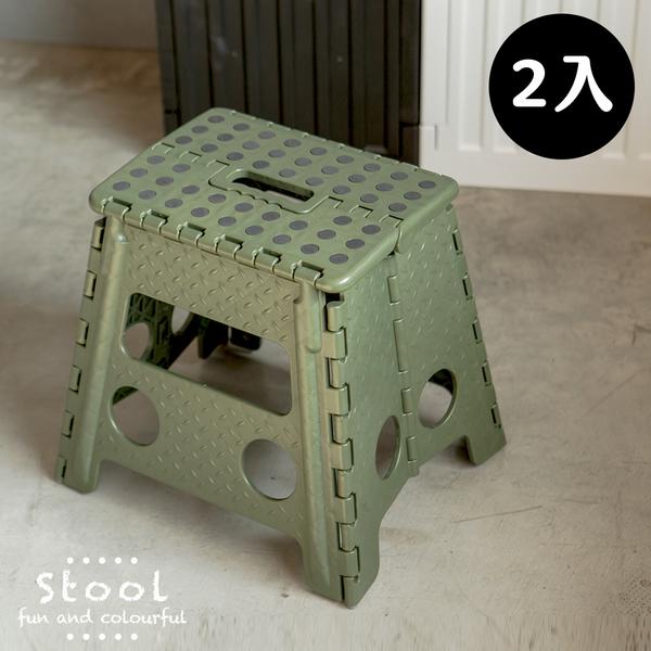 露營 摺疊椅 休閒椅 椅 椅凳【Z0062-A】水玉點點休閒摺合椅(大)2入 完美主義