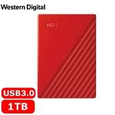 WD 威騰 My Passport 1TB(紅) 2.5吋行動硬碟(2019)