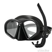 自由潛水面鏡低容積 深潛面鏡 游泳潛水用品裝備面罩浮潛套裝成人 快速出貨