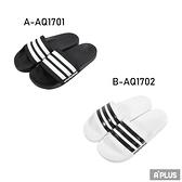 ADIDAS 男女 拖鞋 ADILETTE SHOWER 防水 海灘 黑 白-AQ1701 AQ1720