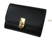 ZODENCE 西班牙牛皮系列LOGO金屬扣設計名片夾 黑 Z14H601D01B1