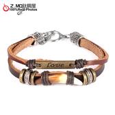 [Z-MO鈦鋼屋]優質皮手環/皮帶設計/經典復古造型/中性皮手環推薦/單條價【CKAL1028】