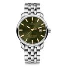 TITONI 梅花 大師系列 天文台認證機械錶 83188 S-660Y 綠