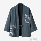 古風日系和風羽織七分袖中國風道袍和服開衫防曬衣外套男女漢服潮 3C優購