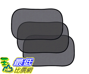 [106美國直購] 遮陽罩 Homitt Static Cling Car Window Sun Shades– 3 Pack Black