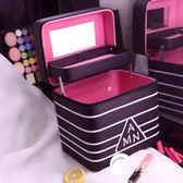 化妝包女大容量多功能簡約便攜小號韓國多層化妝箱收納盒品手提-奇幻樂園