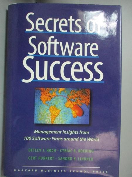 【書寶二手書T1/網路_YGT】Secrets of Software Success-Management..._Hoch