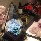 年終盛典 Rosenine進口永生花禮盒diy玻璃罩玫瑰花七夕情人節生日禮物老婆