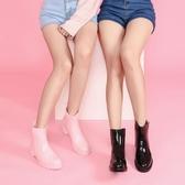 HNI雨靴時尚防水防滑膠鞋輕便套鞋中筒水鞋成人短筒韓版雨鞋女