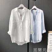 白色棉麻襯衫女亞麻棉夏季韓版寬鬆百搭長袖防曬襯衣薄款開衫上衣