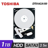 【Toshiba 東芝】1TB 3.5吋 7200轉 硬碟 DT01ACA100