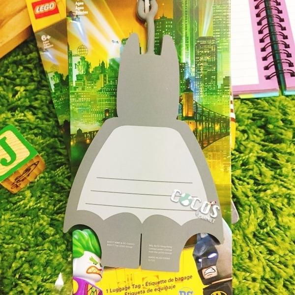 LEGO樂高 樂高蝙蝠俠電影 蝙蝠俠 人偶造型行李吊牌 蝙蝠俠行李吊牌 掛飾吊飾 COCOS LG287