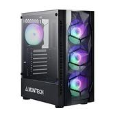 Montech X1 黑 顯卡長30.5/CPU高16.5/網孔面板/玻璃透側/ATX【刷卡分期價】