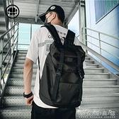 大容量男士雙肩包歐美時尚潮流旅行電腦背包ins潮高中大學生書包 晴天時尚