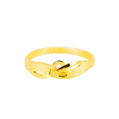 暖心-愛心黃金戒指