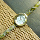 rumba time / RU26627 / Orchard Gem Exotic 紐約品牌 切割玻璃鏡面 日本機芯 蛇紋真皮手錶 金x黃綠 30mm