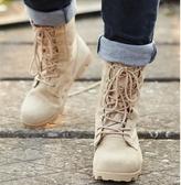 冬季保暖透氣07工裝靴男女情侶軍靴戰術靴登山靴馬丁靴時尚大黃靴 KV4067 【野之旅】
