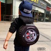 個性兒童書包輪胎書包旅行雙肩背包寶寶書包 幼兒園書包 男孩書包【街頭布衣】