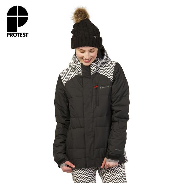 PROTEST 女 機能防水保暖外套 (真實黑) VANCOUVER SNOWJACKET