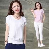 棉麻短袖女2020夏季韓版純色簡約上衣百搭寬鬆亞麻白色女士T恤潮