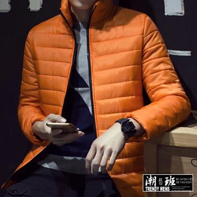 『潮段班』【HJ091812】日韓熱銷款 修身剪裁 素面 多色可選 防風防水保暖 鋪棉外套