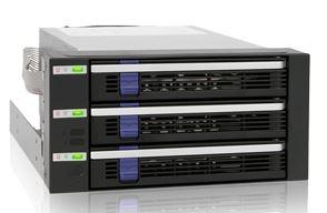 "ICY DOCK MB153SP-B 三層式附EZ-Tray 3.5"" SATA HDD 熱插拔(3轉2) 硬碟背板模組"