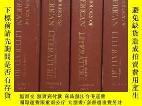 二手書博民逛書店美國文學選罕見ANTHOLOGY OF AMERICAN LITERATURE(第一卷1-2、第二卷1-2)4本合