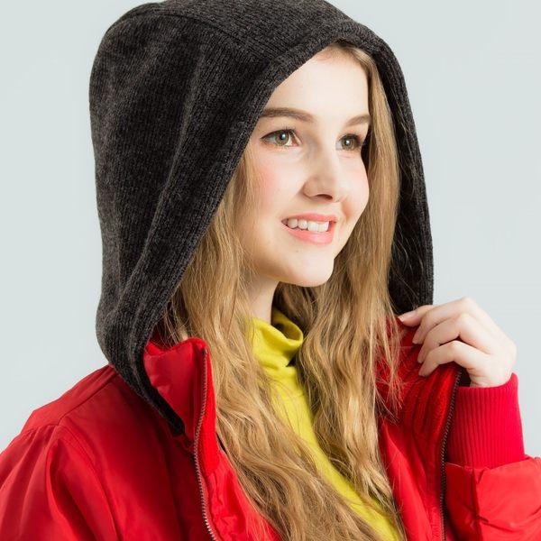 【衣大樂事】毛線帽風衣長外套