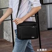 男包側背包背包單肩包男士韓版休閒防水牛津布包旅行商務挎包小包 雙十二全館免運