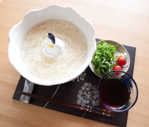【小福部屋】日本 南極企鵝素麵碗 陶瓷碗 拉麵碗 消夜首選 IG必備 大容量【新品上架】