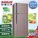 元元家電館【SANLUX台灣三洋】480L 直流變頻雙門電冰箱 SR-B480BV