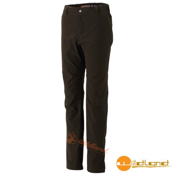 【wildland 荒野】女彈性保暖休閒長褲『深卡其』0A32303 戶外|登山|休閒|四向彈性褲