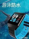 W1C大屏智能手環多功能游泳防水運動計步手錶天氣預報男女學生老人 茱莉亞