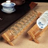竹制單層品茗杯架晾杯架功夫茶具茶道茶