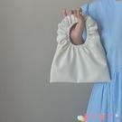 手提包 可愛手拎小包包2021春夏韓版新款軟皮少女凹造型褶皺包 愛丫 免運