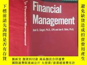 二手書博民逛書店Financial罕見Management (32開,軟精裝) ,外文原版Y5460 Joel G.Siege