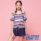 【Summer Love 夏之戀】夏日風格連身褲件式泳衣(S18727)