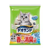 Unicharm 日本消臭大師消臭礦砂肥皂香-5LX2包