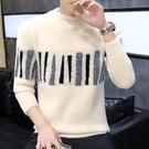 男士圓領毛衣韓版潮流2020新款秋冬季加厚水貂絨針織衫個性毛線衣 沸點奇跡