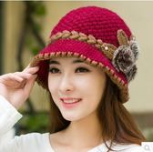 老人帽子保暖冬天中老年女士護耳毛線帽老年人針織帽秋冬季媽媽潮6色可選  雙12八七折