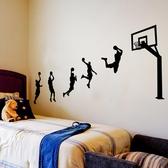 男生宿舍牆貼紙寢室臥室房間床頭裝飾品臥室布置牆畫籃球體育海報-Ifashion YTL