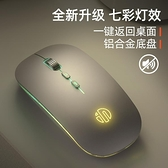 滑鼠 英菲克M1L無線滑鼠靜音可充電款式女生發光無聲男生游戲辦公家用電腦 歐歐